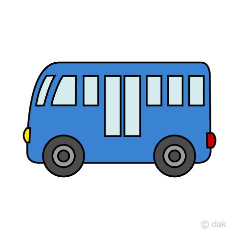 かわいいバスの無料イラスト素材イラストイメージ