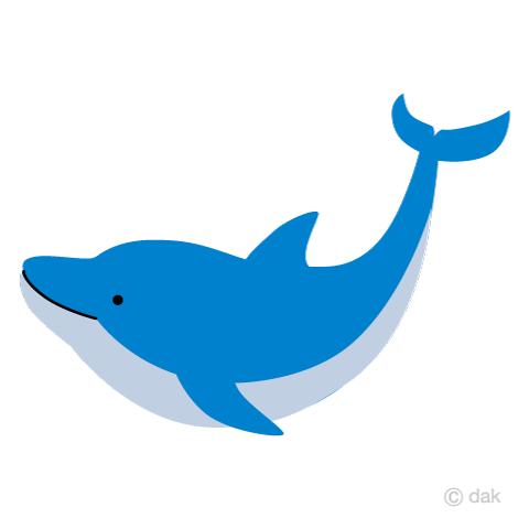 かわいいイルカの無料イラスト素材 イラストイメージ