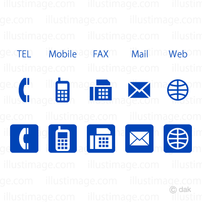 Business blue icon