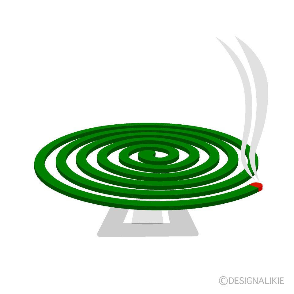 蚊取り線香の無料イラスト素材イラストイメージ