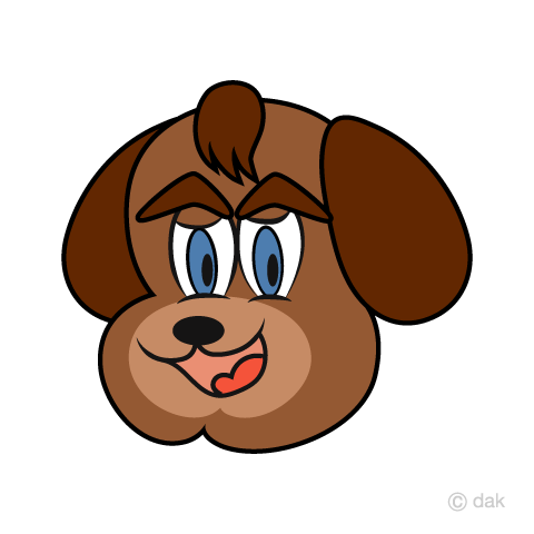 Dog character face