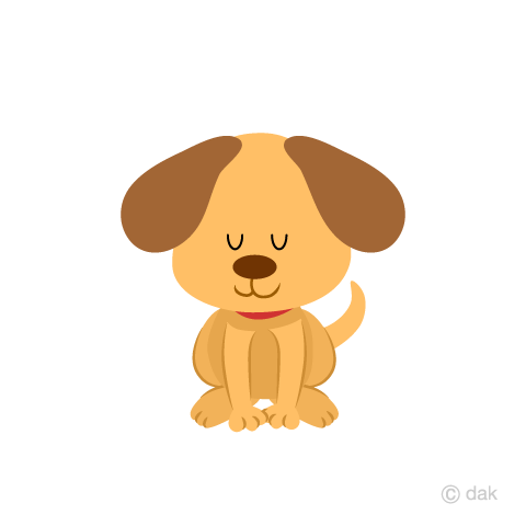 Cute dog to bow