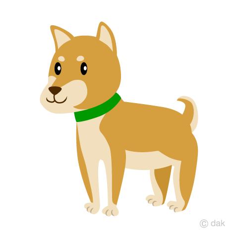 かわいい柴犬の無料イラスト素材イラストイメージ