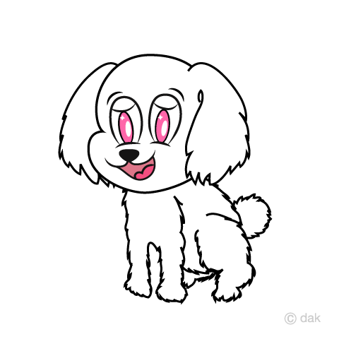 Cute toy poodle character
