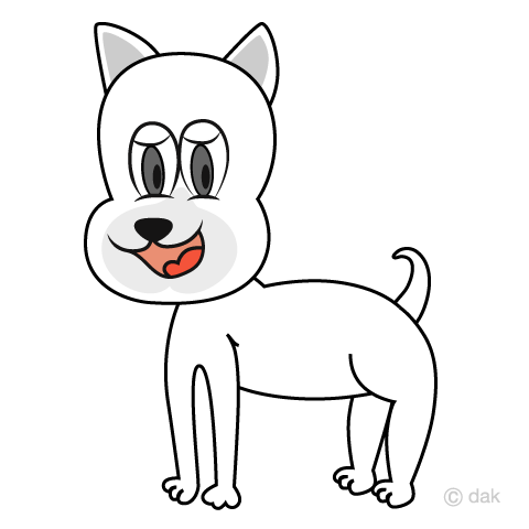 White dog character