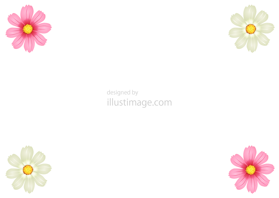 コスモス枠の無料イラスト素材イラストイメージ