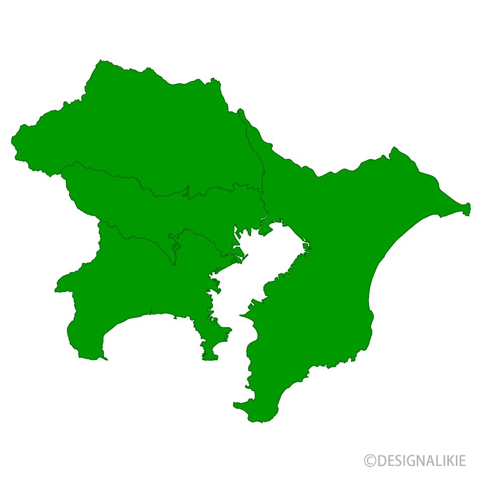東京圏地図の無料イラスト素材イラストイメージ