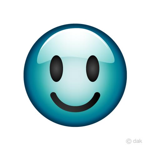 青いスマイルマーク