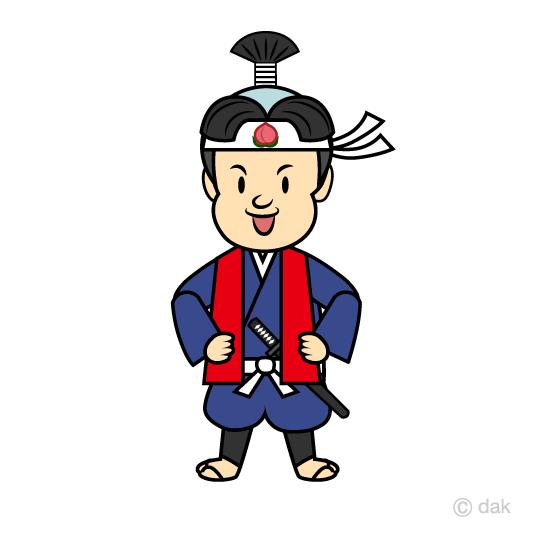 桃太郎の無料イラスト素材イラストイメージ