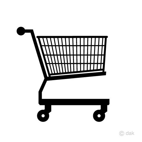 ショッピングカートマークの無料イラスト素材イラストイメージ