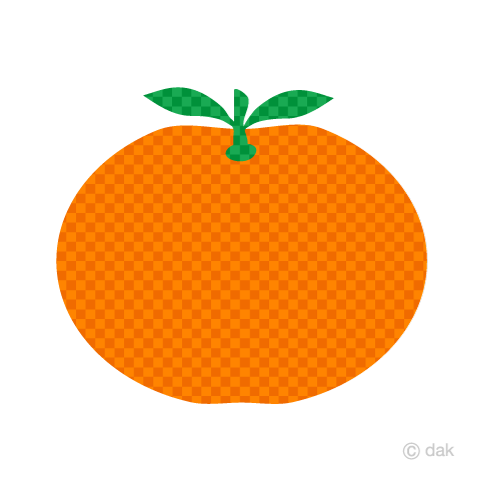 Mandarin orange (checked)