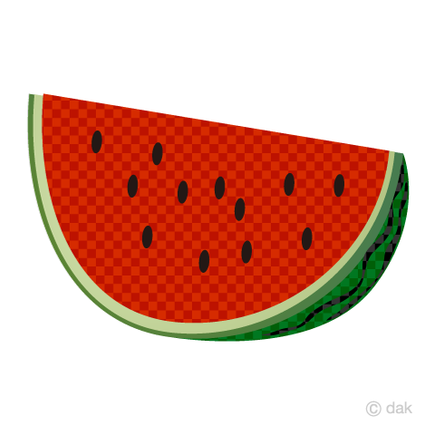 Cut watermelon (plaid)