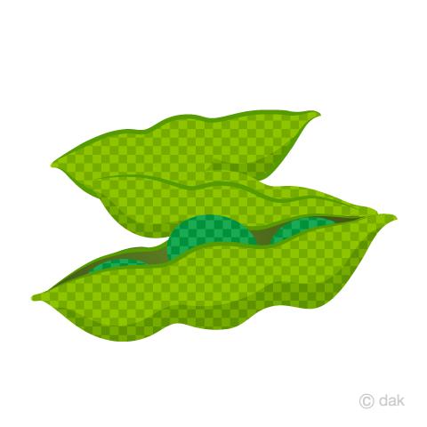枝豆(チェック柄)の無料イラスト素材|イラストイメージ