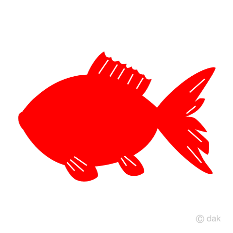 Red silhouette goldfish