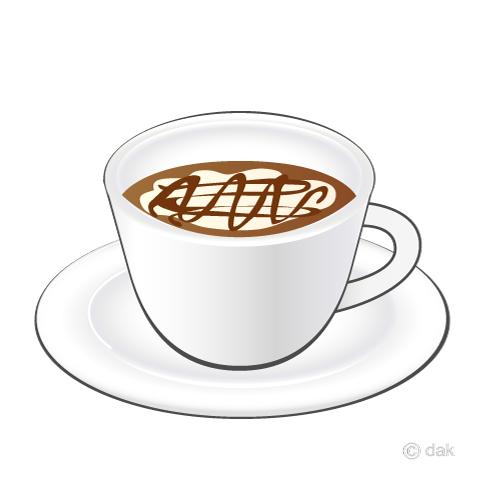 コーヒーカップのカフェラテの無料イラスト素材イラストイメージ