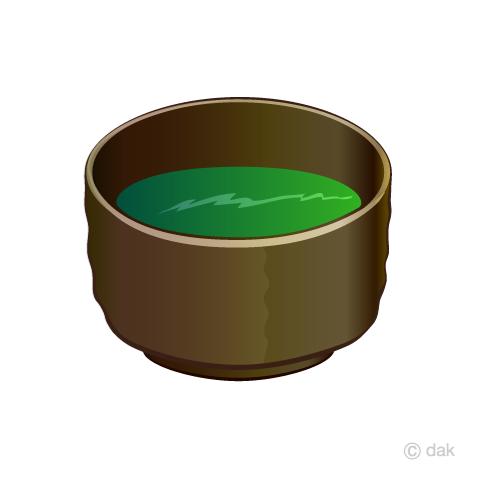 抹茶椀の無料イラスト素材イラストイメージ