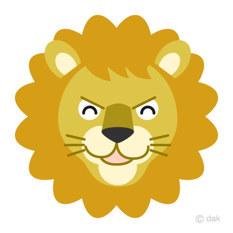 Laughing face lion