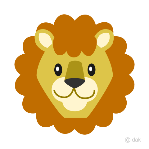 Simple lion's face