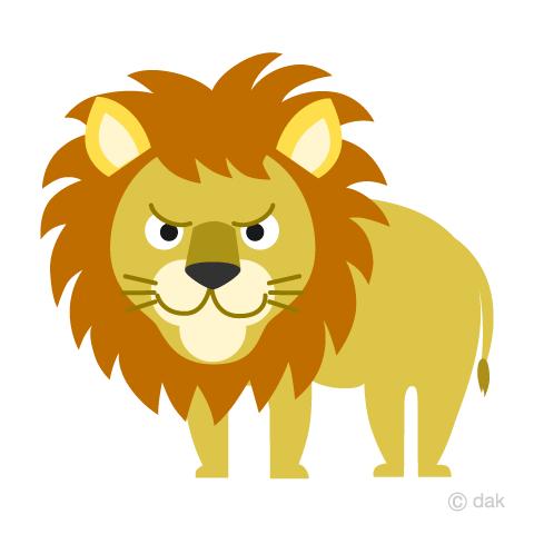 まとめライオンのフリーイラスト素材イラストイメージ