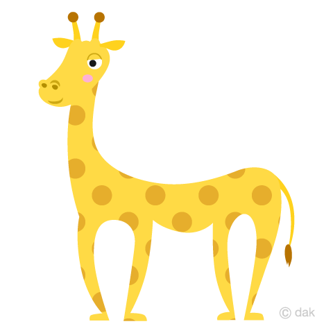 Full body giraffe