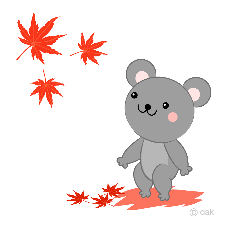 Autumn leaves and rat