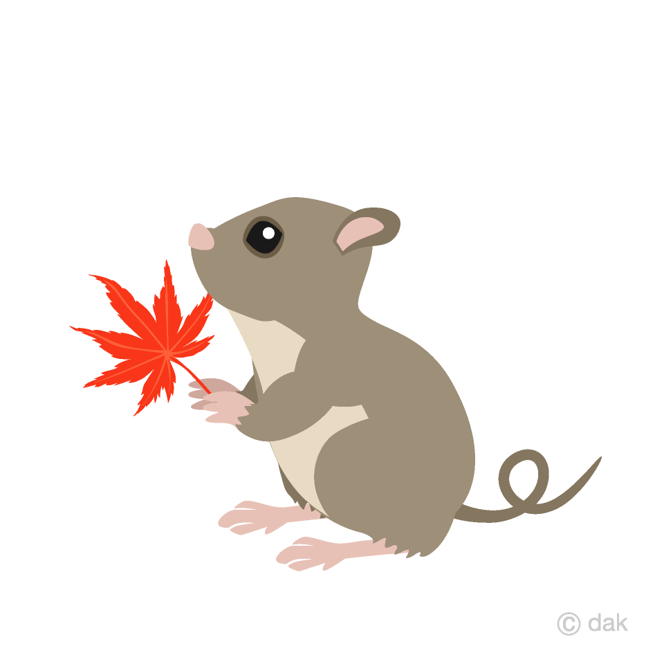 Mice with a autumn leaves