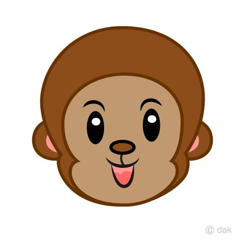 可愛い猿 キャラの顔の無料イラスト素材 イラストイメージ