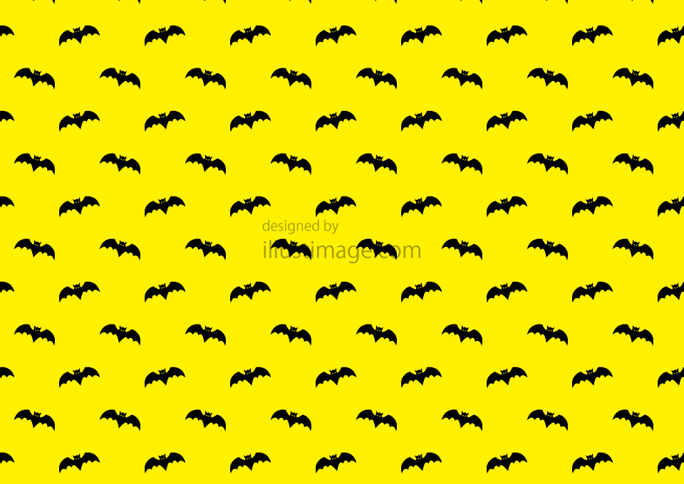 Yellow wallpaper of bat pattern