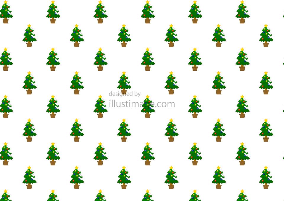 クリスマスツリーパターン壁紙の無料イラスト素材イラストイメージ