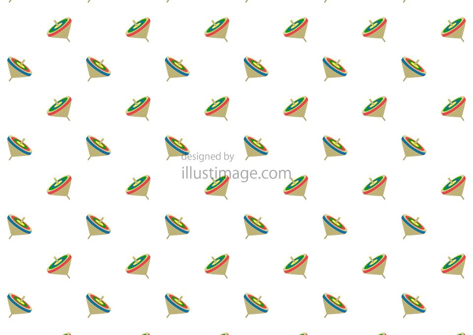正月コマ模様の壁紙の無料イラスト素材イラストイメージ
