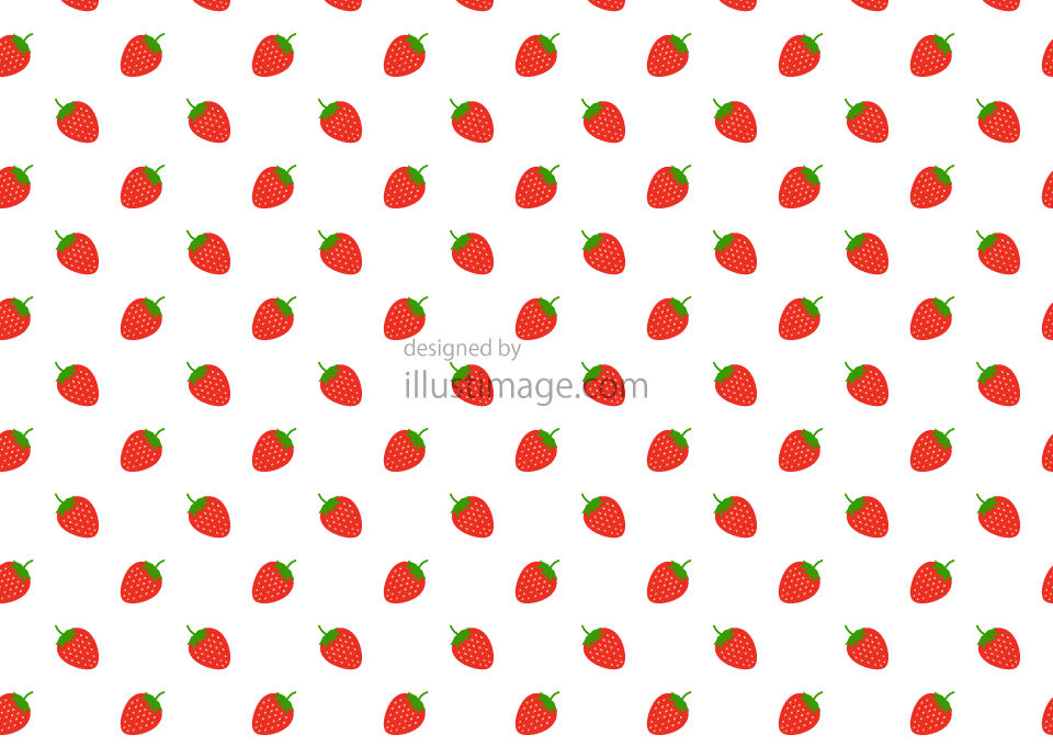 Strawberry pattern wallpaper