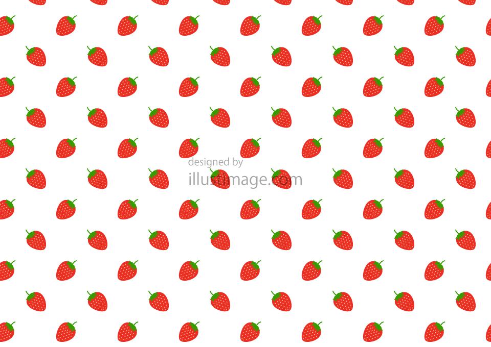 いちごパターンの壁紙の無料イラスト素材 イラストイメージ