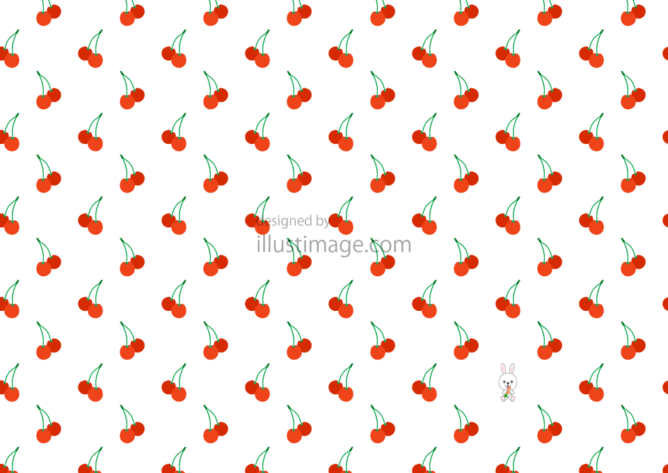 Cherry pattern wallpaper