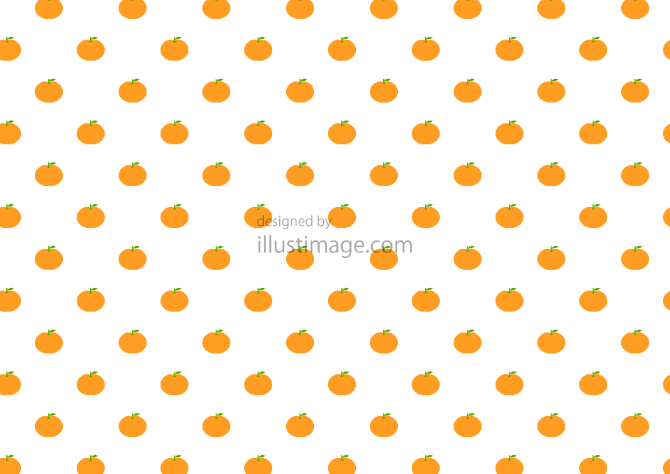 Mandarin oranges pattern wallpaper