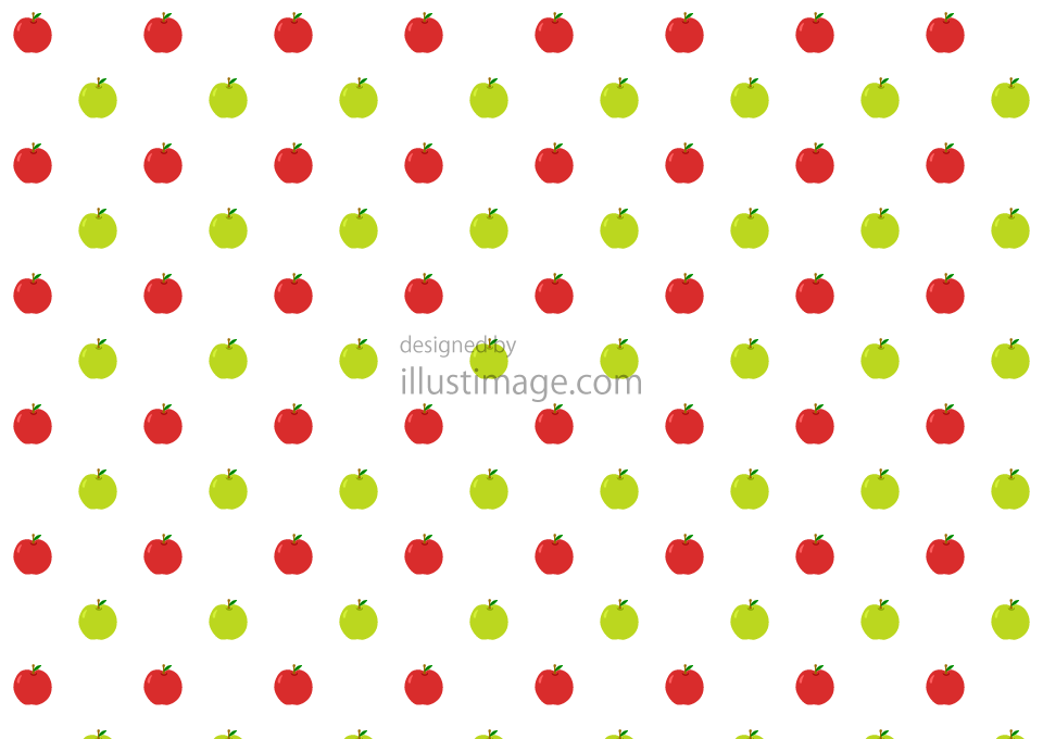 りんごパターンの壁紙の無料イラスト素材イラストイメージ
