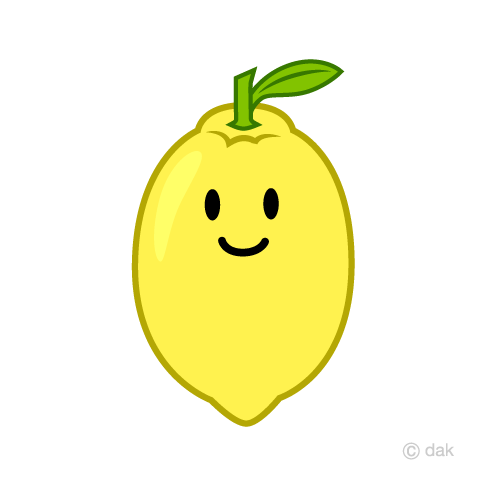 Cute lemon character