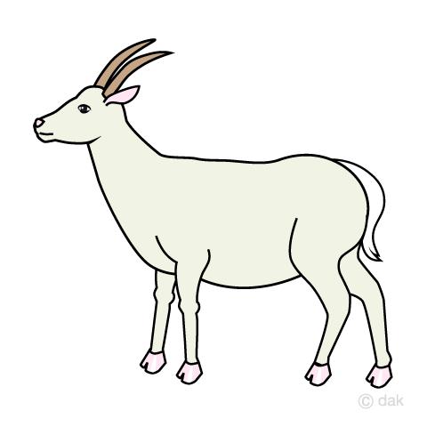 ヤギの無料イラスト素材イラストイメージ