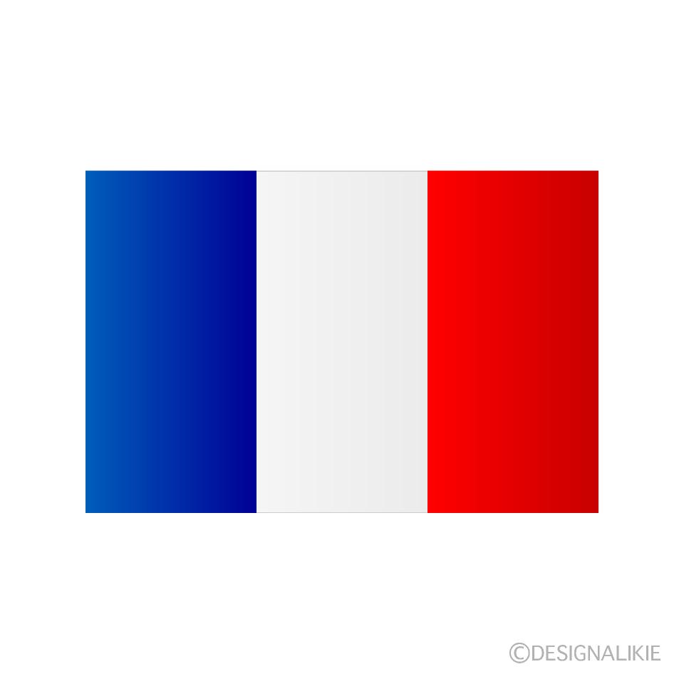 フランス国旗の無料イラスト素材イラストイメージ