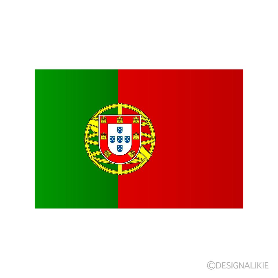 ポルトガル国旗のイラスト無料素材