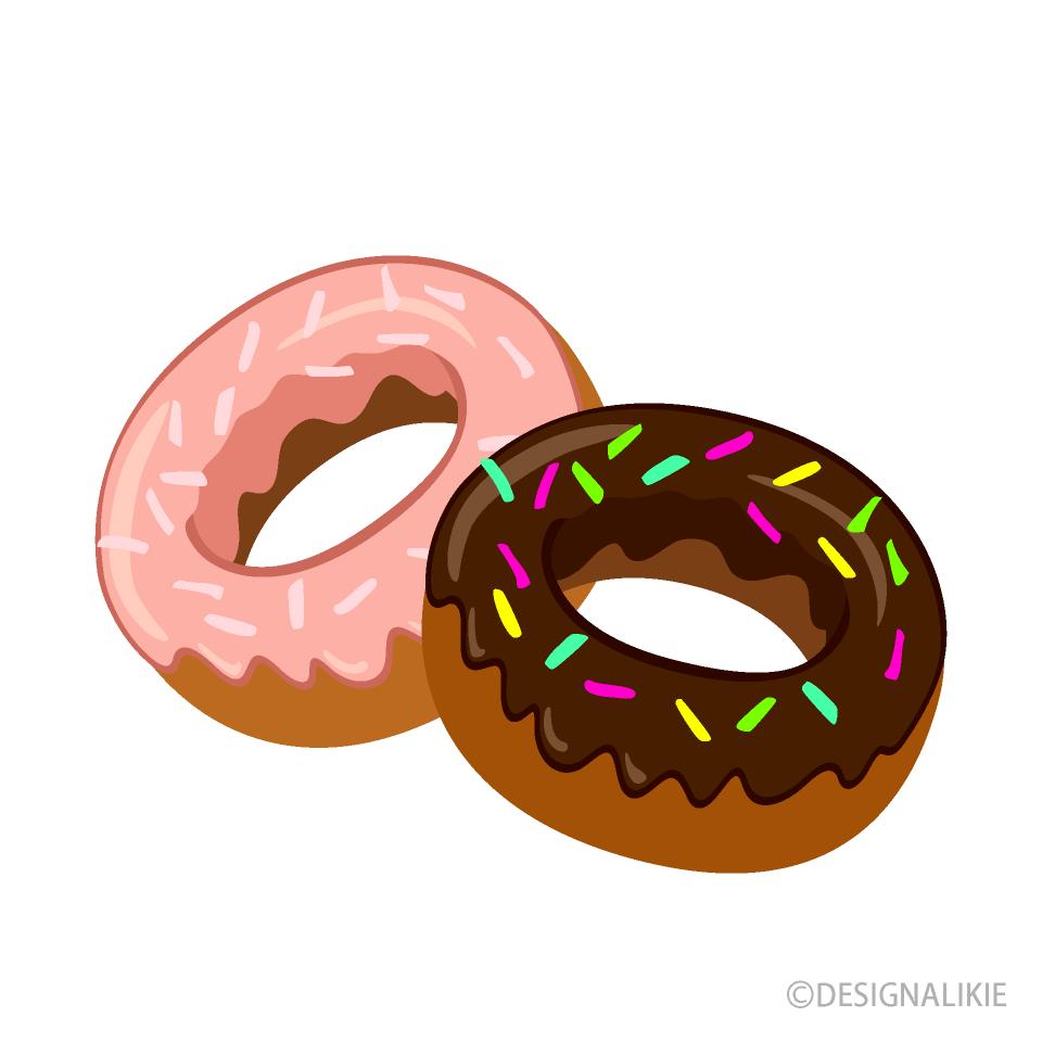 カラフルなドーナツの無料イラスト素材イラストイメージ