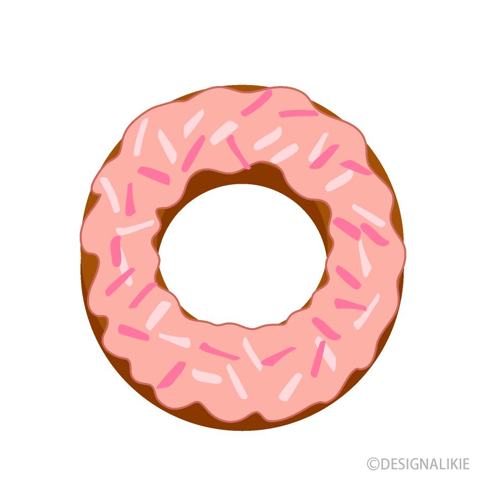 イチゴチョコドーナツの無料イラスト素材イラストイメージ