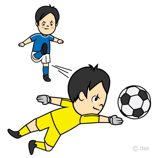 Pkのサッカー選手の無料イラスト素材イラストイメージ