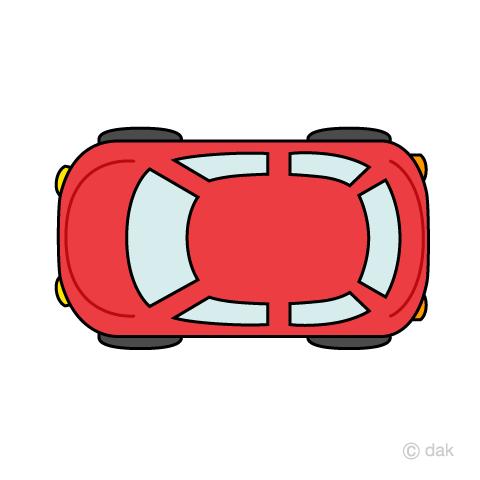 上から見た丸みのある車の無料イラスト素材イラストイメージ