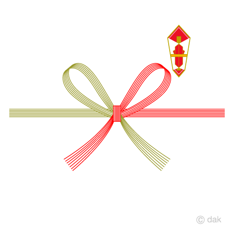 折り熨斗と水引の無料イラスト素材イラストイメージ