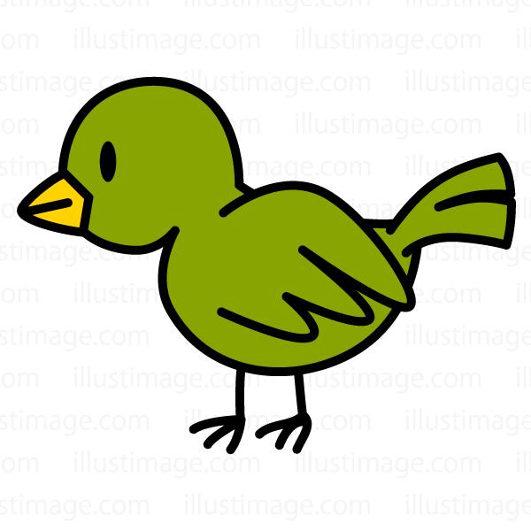ゆる可愛い小鳥の無料イラスト素材イラストイメージ