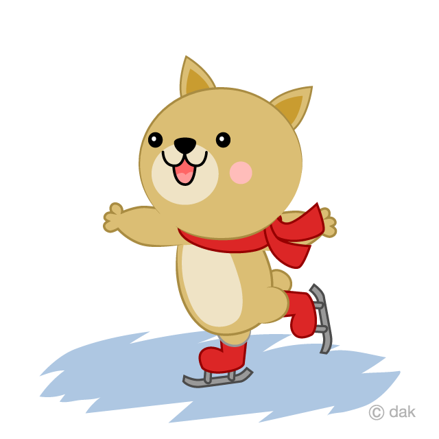 Cute dog to skate