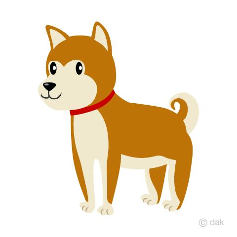 秋田犬の無料イラスト素材イラストイメージ