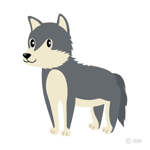 オオカミの無料イラスト素材イラストイメージ