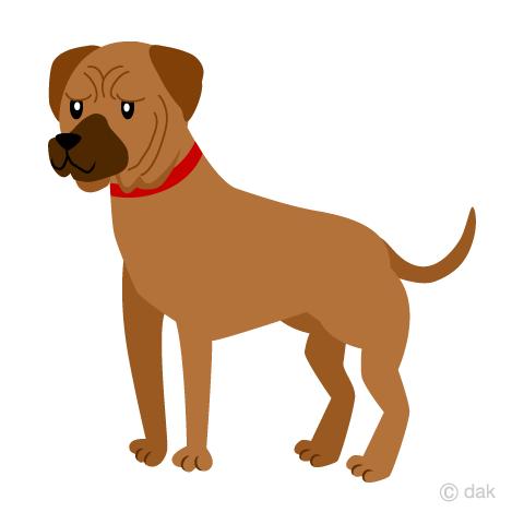 土佐犬の無料イラスト素材イラストイメージ