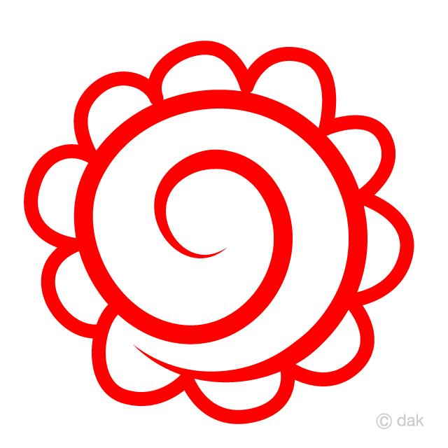 赤いはまなるの無料イラスト素材イラストイメージ